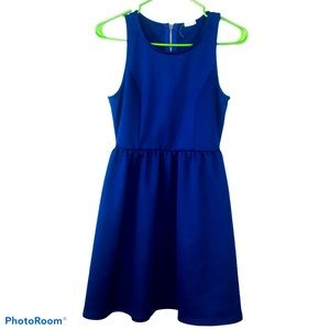 Garage Bleu Navy Zip closure flare waistband Dress